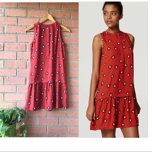 Ann Taylor LOFT Dandelion Drop Waist Dress | XS